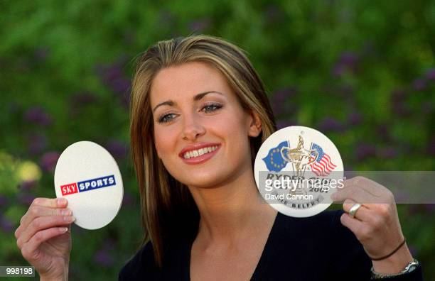 Kirsty Gallacher of Sky Sports at the unveiling of the SKY TV Ryder Cup commentary team at Coombe Hill Golf Club London Mandatory Credit David...