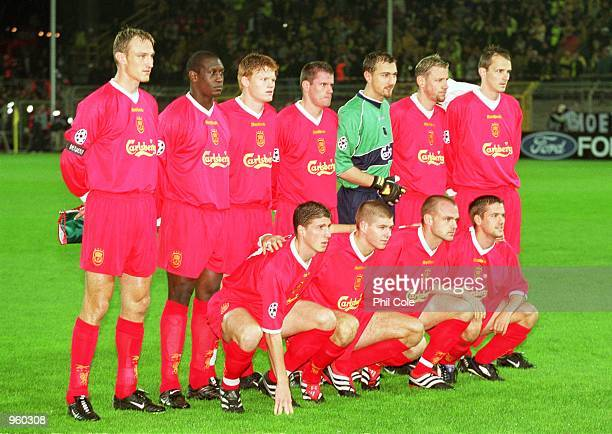 Liverpool team group before the UEFA Champions League Group B match against Borussia Dortmund played at the Westfalenstadion in Dortmund Germany The...