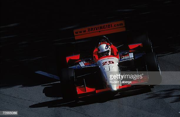 Max Wilson of Brazil who drives the Ford Lola for Arciero Blair Racing driving on the track during the Molson Indy part of the CART FedEx...