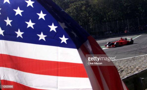 Michael Schumacher of Germany and Ferrari during the third free practice session for the Italian Grand Prix at Monza Italy DIGITAL IMAGE Mandatory...