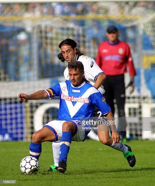 Roberto Baggio of Brescia in action during the Serie A match between Brescia and Atalanta played at the Mario Rigamonti Stadium Brescia DIGITAL IMAGE...