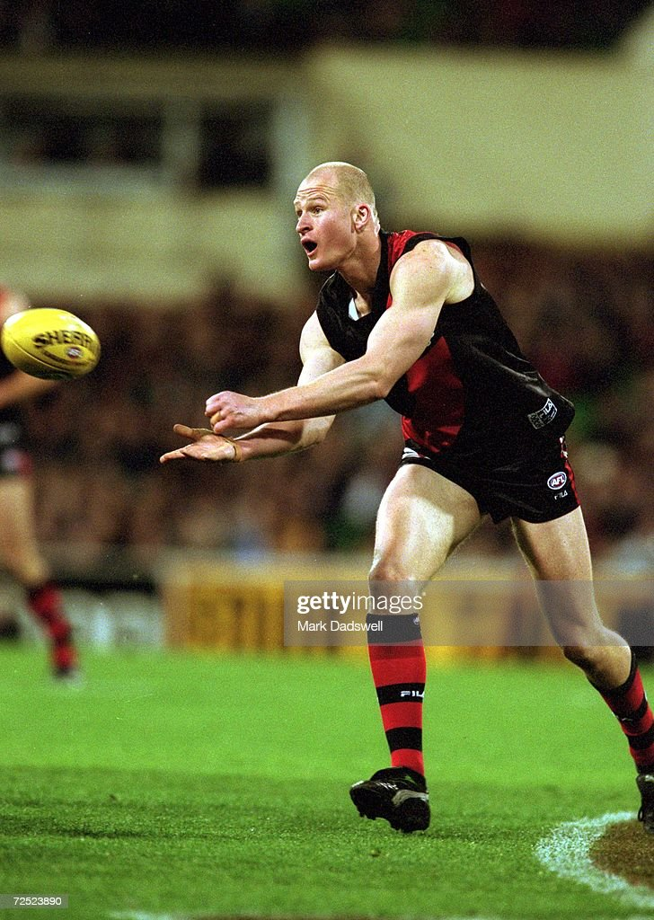 Sean Wellman for Essendon in action during the AFL 1st Qualifying Final played between the Essendon Bombers and the Richmond Tigers held at the...