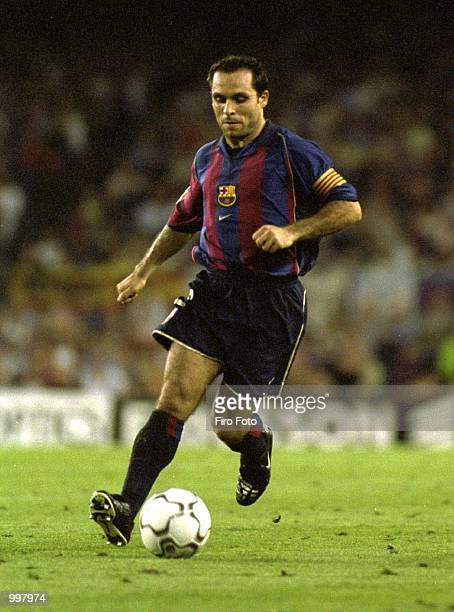 Sergi Barjuan of Barcelona in action during the Primera Liga game between Barcelona and Rayo Vallecano played at the Camp Nou Camp Barcelona...