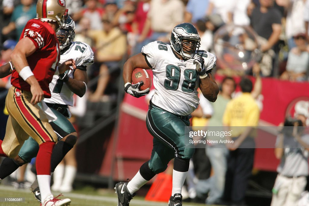 Sep 24 2006 San Francisco CA USA The Philadelphia Eagles MIKE PATTERSON against the San Francisco 49ers at Monster Park The Eagles beat the 49ers 3824