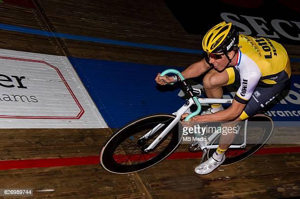 Sep Vanmarcke pictured during 'Ciao Fabian' An event to honour Fabian Cancellara's carreer In Kuipke Gent Belgium on Saturday november 12 2016