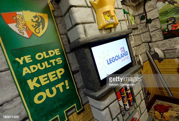 A separate kids room with bunk beds is seen in the kingdom themed hotel room of North America's first ever Legoland Hotel at Legoland on September 17...