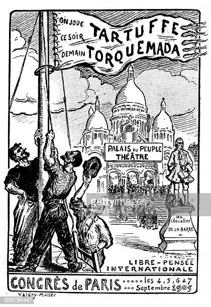 Caricature by Valery Muller against the Church concerning the freethinking conference September 1905 France