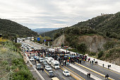 ESP: Separatist Catalonian Protesters Block The Border Between France And Spain