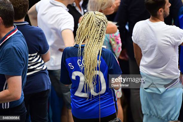Sephora Coman during the European Championship Final between Portugal and France at Stade de France on July 10 2016 in Paris France