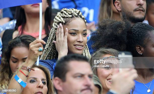 Sephora Coman wife of Kingsley Coman attends the UEFA Euro 2016 final between Portugal and France at Stade de France on July 10 2016 in SaintDenis...