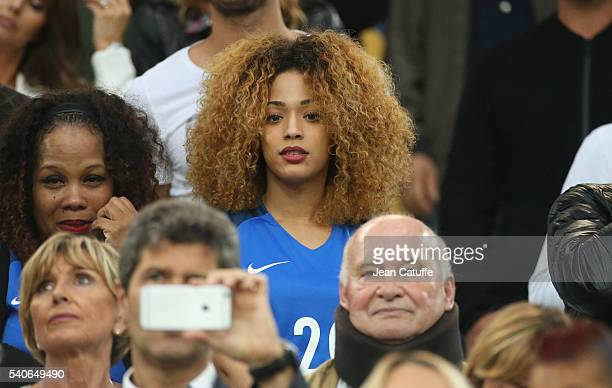 Sephora Coman wife of Kingsley Coman attends the UEFA EURO 2016 Group A match between France and Albania at Stade Velodrome on June 15 2016 in...