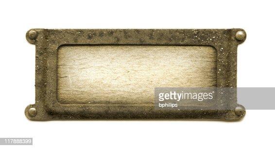 Sepia plaque
