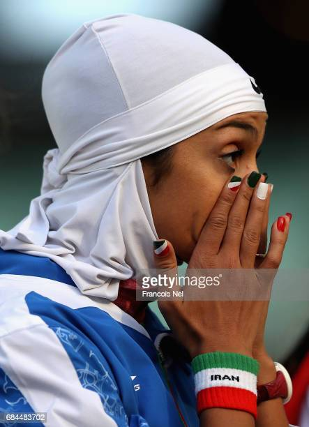 Sepideh Tavakoly Nik of Iran prepares to compete in the in the Women's High Jump Final during day seven of Baku 2017 4th Islamic Solidarity Games at...