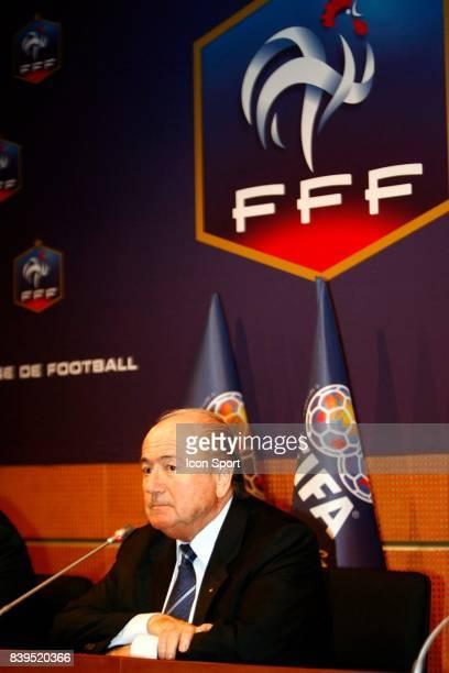 Sepp BLATTER Inauguration des nouveaux locaux de l'instance nationale FFF