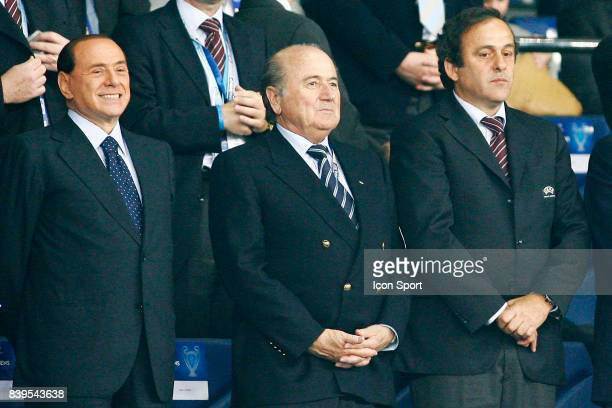 BERLUSCONI / Sepp BLATTER / Michel PLATINI Milan Ac / Liverpool Finale de Champions League Athenes