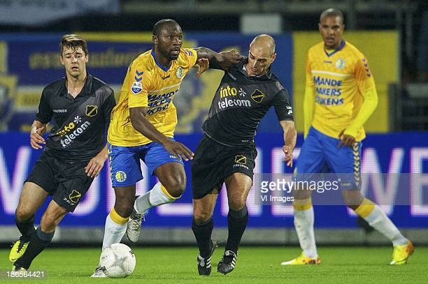 Sepp de Roover of NAC Breda Evander Sno of RKC Waalwijk Anthony Lurling of NAC Breda JeanDavid Beauguel of RKC Waalwijk during the Dutch Eredivisie...