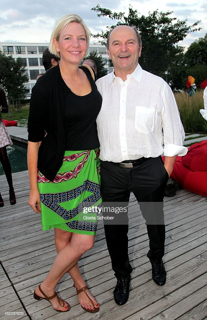 Sepp Kraetz and his wife Tina attend the Norbert Dobeleit 50th birthday party at Stromberg Kutchiin on July 16, 2014 in Munich, Germany.