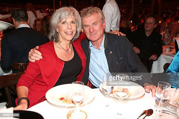 Sepp Maier and his wife Monika Maier during the VIP premiere of Schubecks Teatro's program 'Herzstuecke' at Spiegelzelt on November 5 2015 in Munich...