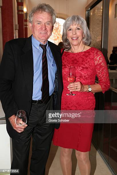 Sepp Maier and wife Monika Maier during the Franz Roth Golf Cup gala evening in favour of Michael Roll Stiftung 'Tabaluga' on May 1 2015 in Bad...