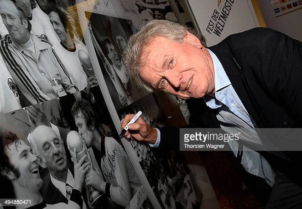 Sepp Maier poses during the German Football Association wolrd champions party at Intercontinental Hotel on May 31 2014 in Duesseldorf Germany