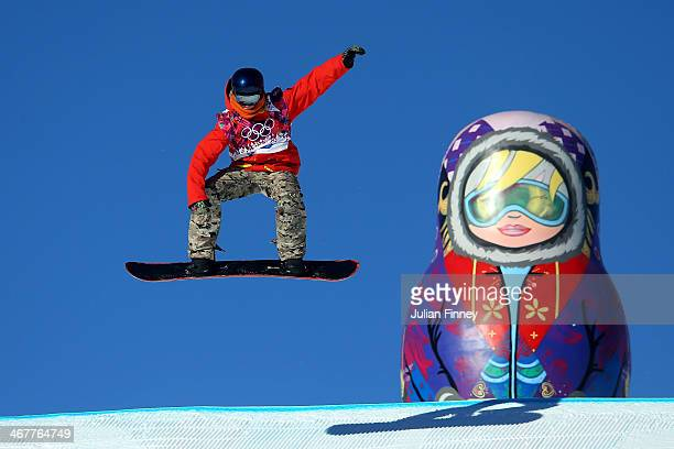 Seppe Smits of Belgium competes during the Snowboard Men's Slopestyle Semifinals during day 1 of the Sochi 2014 Winter Olympics at Rosa Khutor...