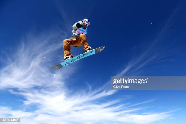 Seppe Smits of Belgium competes during the Women's Slopestyle Final on day four of the FIS Freestyle Ski and Snowboard World Championships 2017 on...