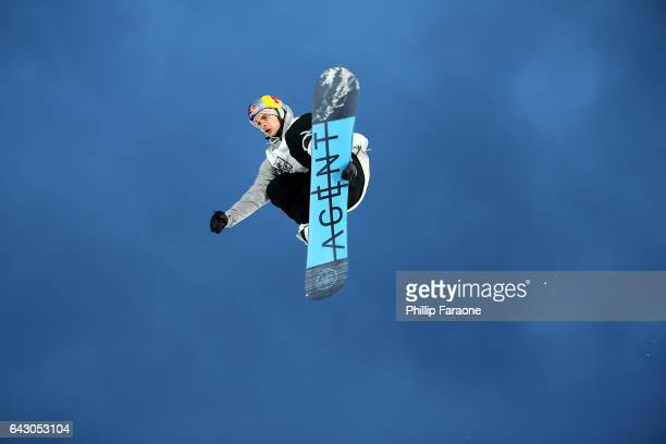 Seppe Smits of Belgium competes in Round 1 of Semifinals at Air Style Los Angeles 2017 at Exposition Park on February 19 2017 in Los Angeles...
