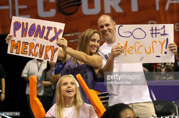 Fans rooting for the Mercury The Phoenix Mercury host the Minnesota Lynx in the 3rd game of the Western Conference Finals played at US Airways Arena...