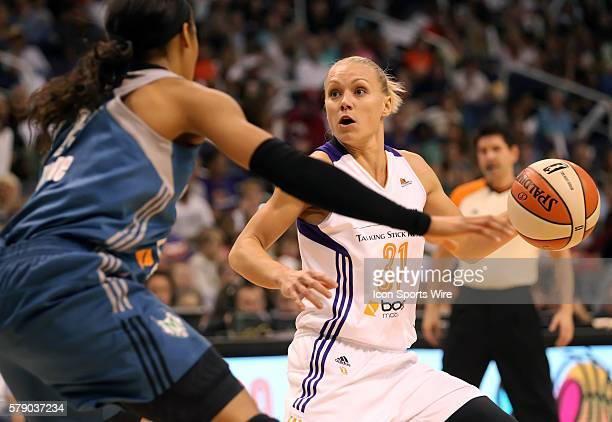 Mercury Guard Erin Phillips is guarded by Lynx Maya Moore The Phoenix Mercury host the Minnesota Lynx in the 3rd game of the Western Conference...