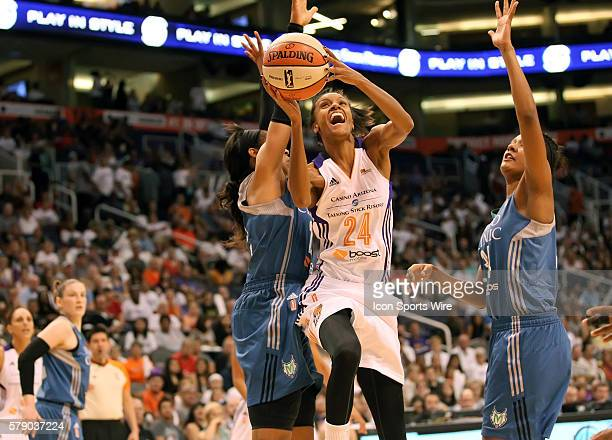 Mercury Guard/Forward DeWanna Bonner is fouled during her shot The Phoenix Mercury host the Minnesota Lynx in the 3rd game of the Western Conference...