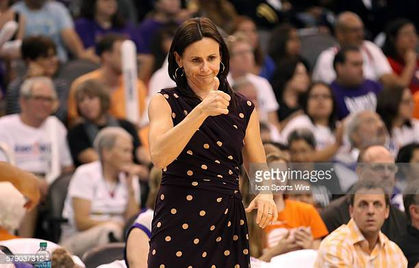 Mercury Head Coach Sandy Brondello gives her players the thumbs up on a nice play The Phoenix Mercury host the Minnesota Lynx in the 3rd game of the...