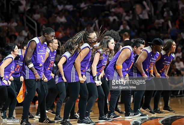 The Mercury Hip Hop Squad performs during a timeout The Phoenix Mercury host the Minnesota Lynx in the 3rd game of the Western Conference Finals...