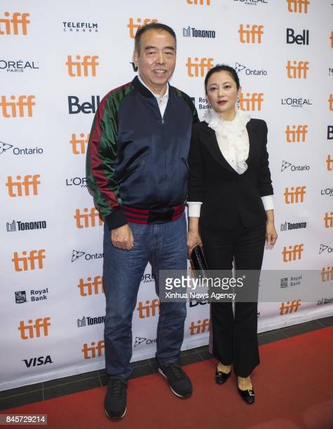 TORONTO Sept 10 2017 Director Chen Kaige and his wife Chen Hong attend the sneak peek of his new film 'Legend of the Demon Cat' at the 2017 Toronto...