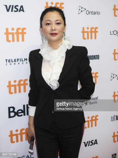 TORONTO Sept 10 2017 Director Chen Kaige's wife Chen Hong attends the sneak peek of his new film 'Legend of the Demon Cat' at the 2017 Toronto...