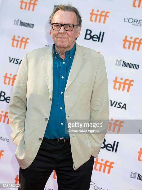 TORONTO Sept 11 2016 Actor Tom Wilkinson poses for photos before the world premiere of the film 'Denial' at Princess of Wales Theatre during the 41st...