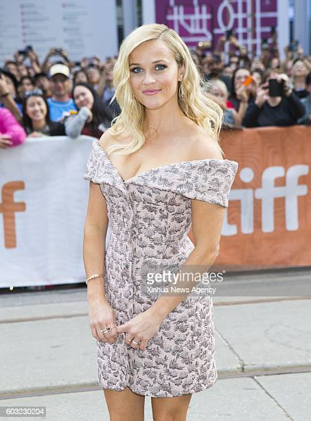 TORONTO Sept 11 2016 Actress Reese Witherspoon attends the world premiere of the film 'Sing' at Princess of Wales Theatre during the 41st Toronto...