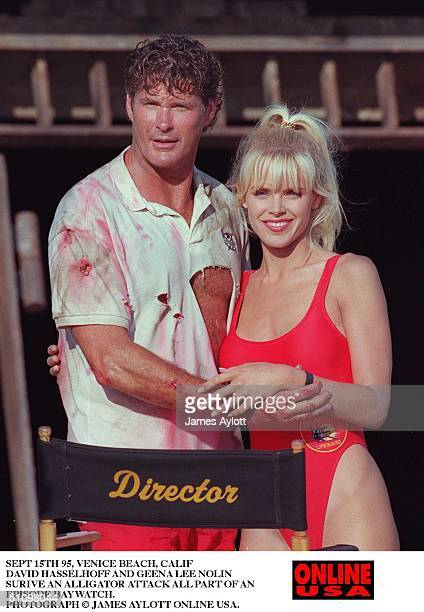 Sept 15Th 95 Venice Beach Calif An Alligator Attacks The Beaches Patrolled By The Life Guards Of Baywatch Set Pictures With David Hasselhoff And...
