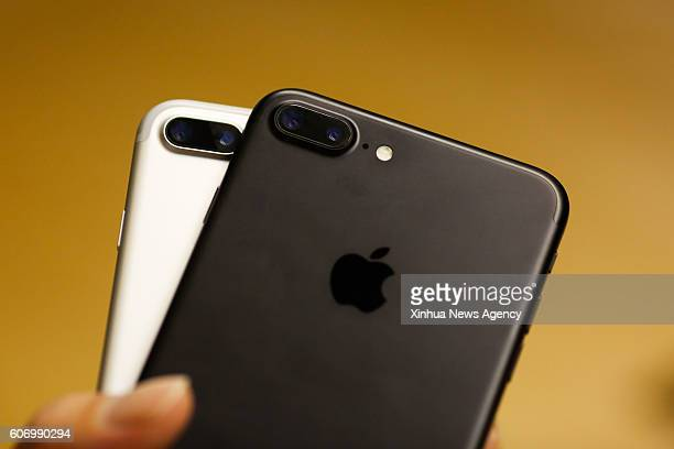 NEW YORK Sept 16 2016 Photo taken on Sept 16 2016 shows the iPhone 7 Plus at Apple store at the Grand Central Terminal in New York the United States...