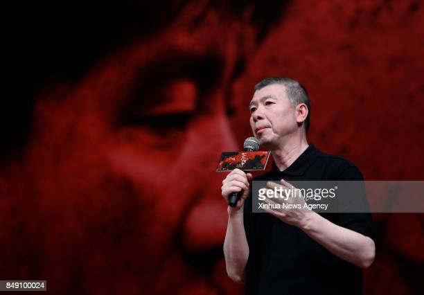 BEIJING Sept 17 2017 Director Feng Xiaogang meets fans and promote his movie 'Youth' at Peking University in Beijing capital of China Sept 17 2017...