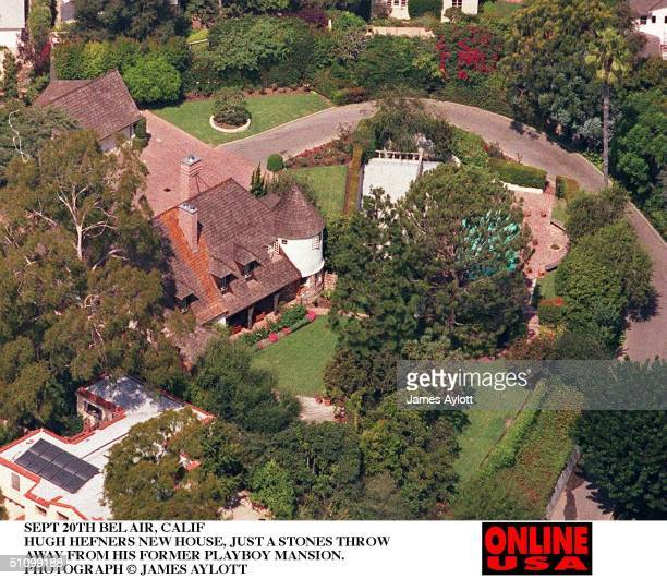 Sept 20Th 95 Bel Air Calif Hugh Hefners New House Just Yards Away From His Former Home The Playboy Mansion