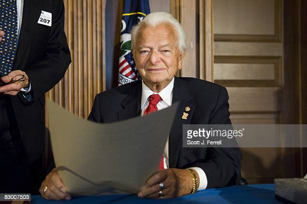 Sen Robert C Byrd DWVa during a ceremony at the US Capitol honoring him for his contributions to education The National Council for History Education...