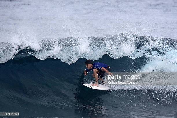 SIARGAO Sept 28 2016 Mitch Parkinson of Australia competes during the semifinal round in the International Siargao Surfing Cup in Siargao Island the...