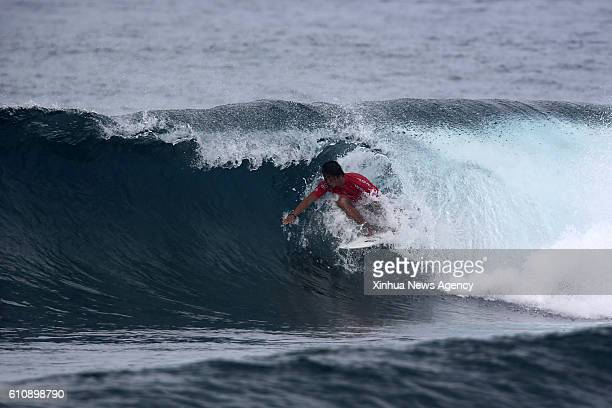 SIARGAO Sept 28 2016 Philmar Alipayo of the Philippines competes during the semifinal round in the International Siargao Surfing Cup in Siargao...