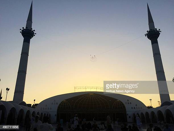 LAHORE Sept 30 2015 Photo taken on Sept 30 shows the view of Data Durbar Shrine during sunset in eastern Pakistan's Lahore on Sept 30 2015 Data...