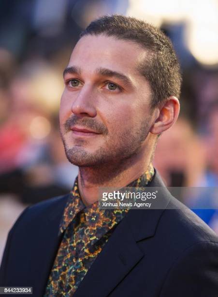 TORONTO Sept 8 2017 Actor Shia LaBeouf attends the premiere of the film 'Borg/McEnroe' during the 2017 Toronto International Film Festival in Toronto...