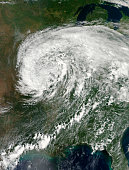 September 1, 2012 - Remnants of Hurricane Isaac over the central United States.