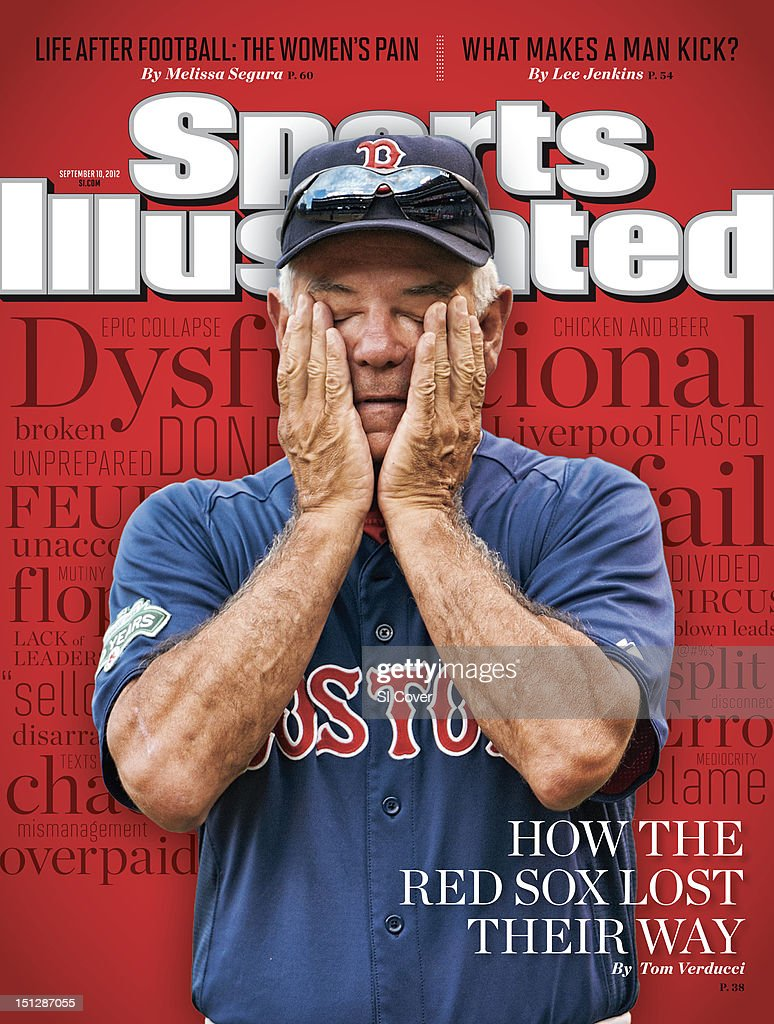 September 10, 2012 Sports Illustrated Cover: Boston Red Sox manager Bobby Valentine (25) on field before game vs Los Angeles Angels of Anaheim at Angel Stadium. Robert Beck F55 )