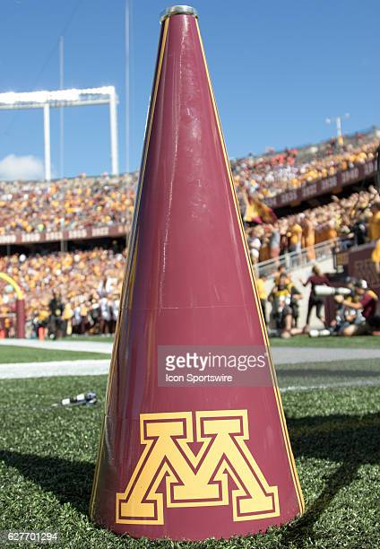 A Minnesota Gophers Megaphone during the Minnesota Gophers game versus the Indiana State Sycamores at TCF Bank Stadium in Minnepolis MN