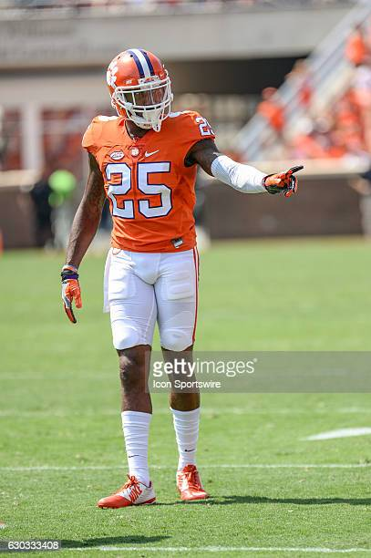 Clemson defensive back Cordrea Tankersley during 1st half action between the Clemson Tigers and the Troy Trojans at Memorial Stadium in Clemson SC
