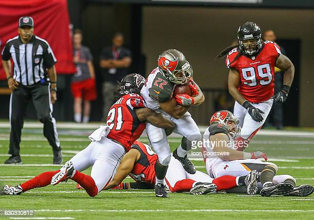Tampa Bay Buccaneers running back Doug Martin runs the ball for a first down during the third quarter of the game between the Atlanta Falcons and the...
